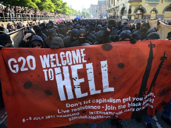 Саммит в Гамбурге: уличные беспорядки и мировые расстановки сил