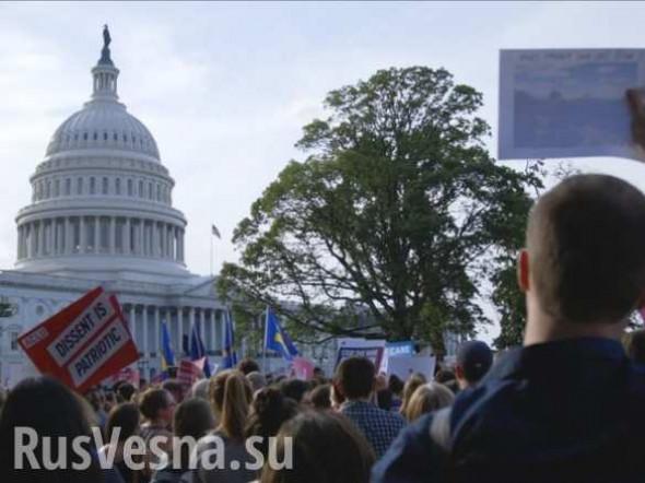 Стабильность made in USA: сотни протестующих ворвались в здание конгресса США